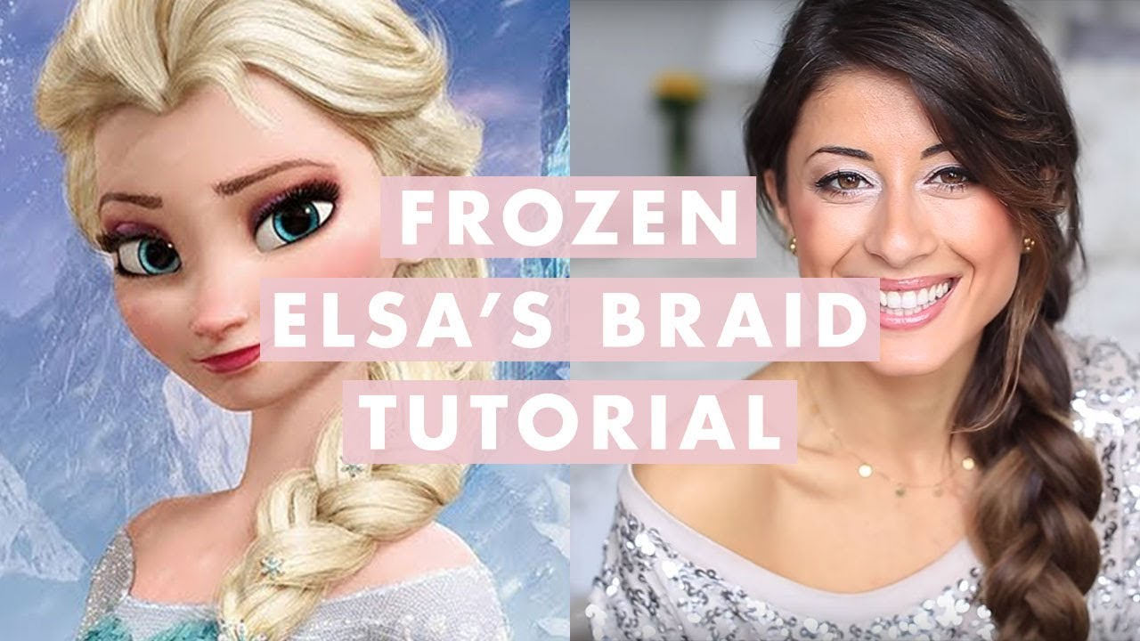 elsa hair styles frozen elsa s braid hair tutorial 7945