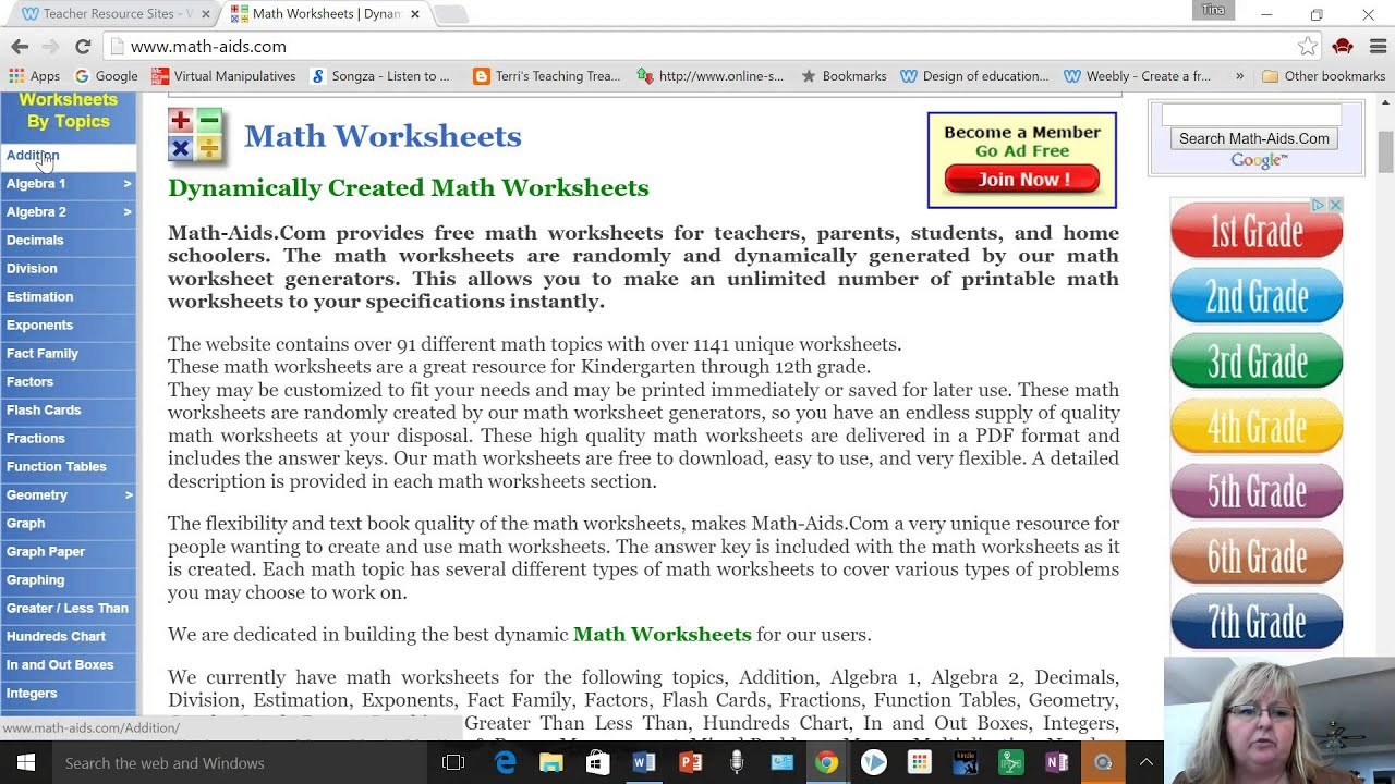 Math Worksheet Generator