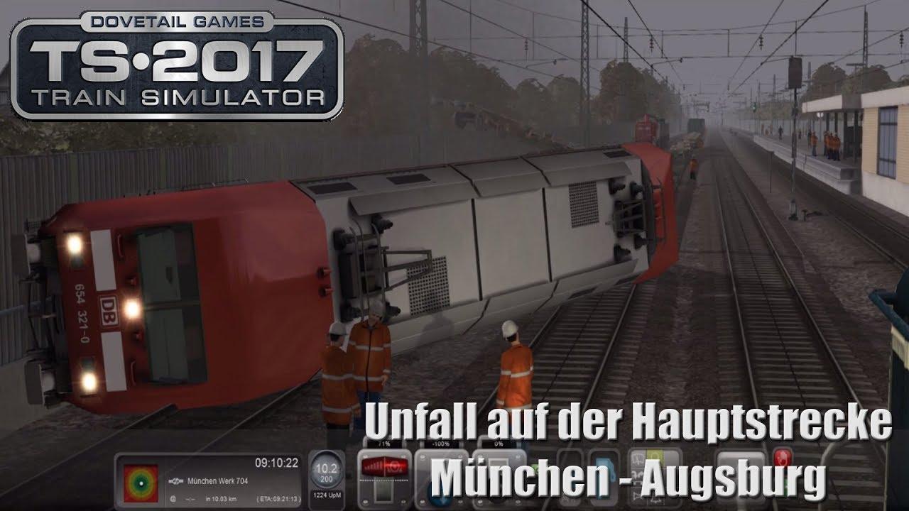 Train Simulator | Unfall auf der Hauptstrecke | BR 294 DBAG BLAU ...