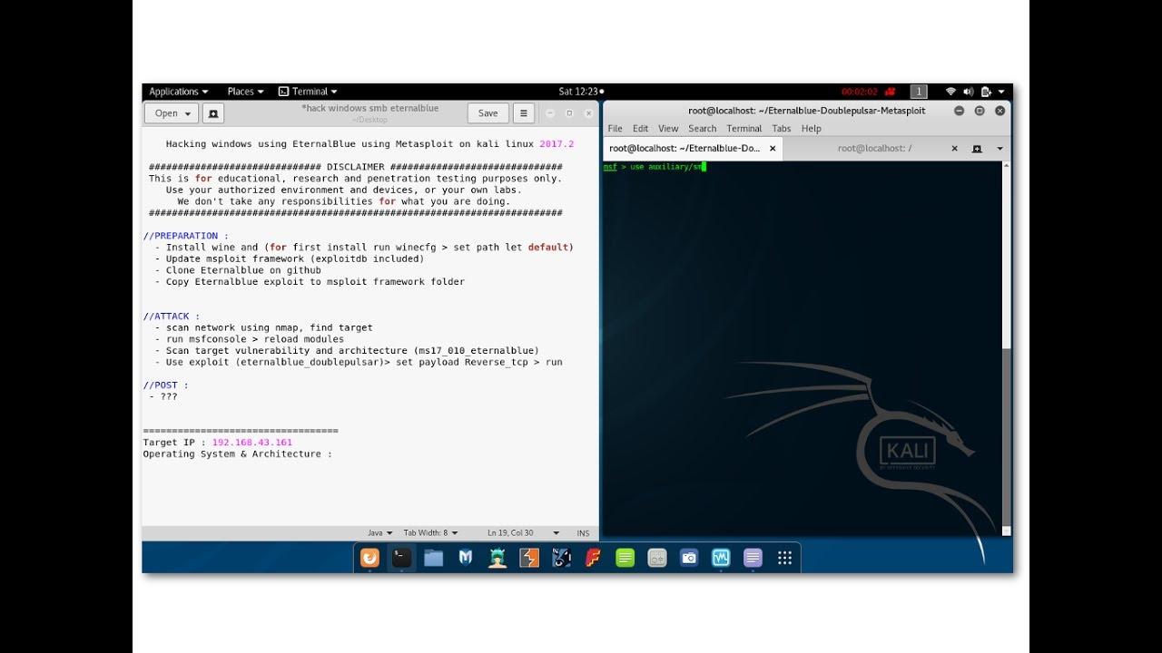 1  Hacking Windows using EternalBlue on Metasploit - kali linux 2017 2