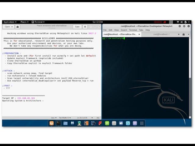 1  Hacking Windows using EternalBlue on Metasploit - kali