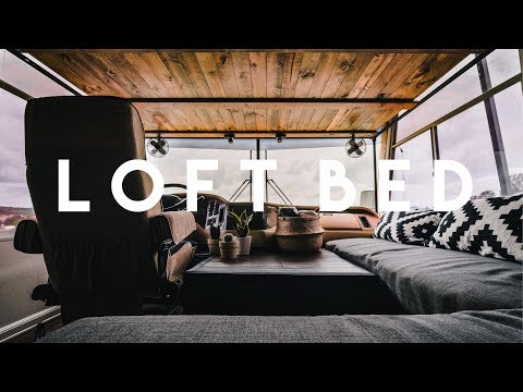 DIY Over Cab Loft Bed in a Class A Motorhome