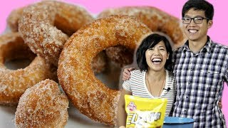 Wee and Tee Make: Korean Donuts - Cooking with My Brother