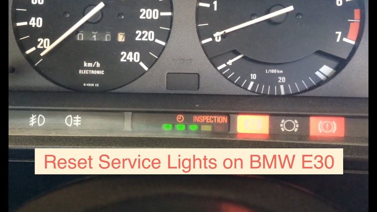 87 Bmw 325e Fuse Box How To Reset Service Lights On A Series 2 E30 318i Or 318is