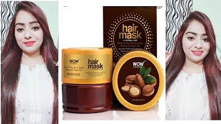 How I Care My Hair WOW Hair Mask For Frizz Free Smooth Hair Review and Demo