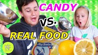 REAL FOOD vs CANDY | Esse NIE ein Päckchen BRAUSE auf einmal! 🤮🤢 Kleine Familienwelt