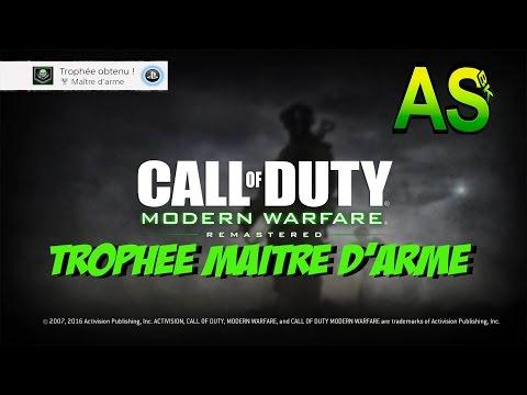 Trophée Maître D'arme Call of duty: Modern Warfare Remastered