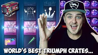 *NEW* DISSOLVER IN A CRATE... 3 TIMES!!! | The World's BEST Triumph Crate Opening In Rocket League