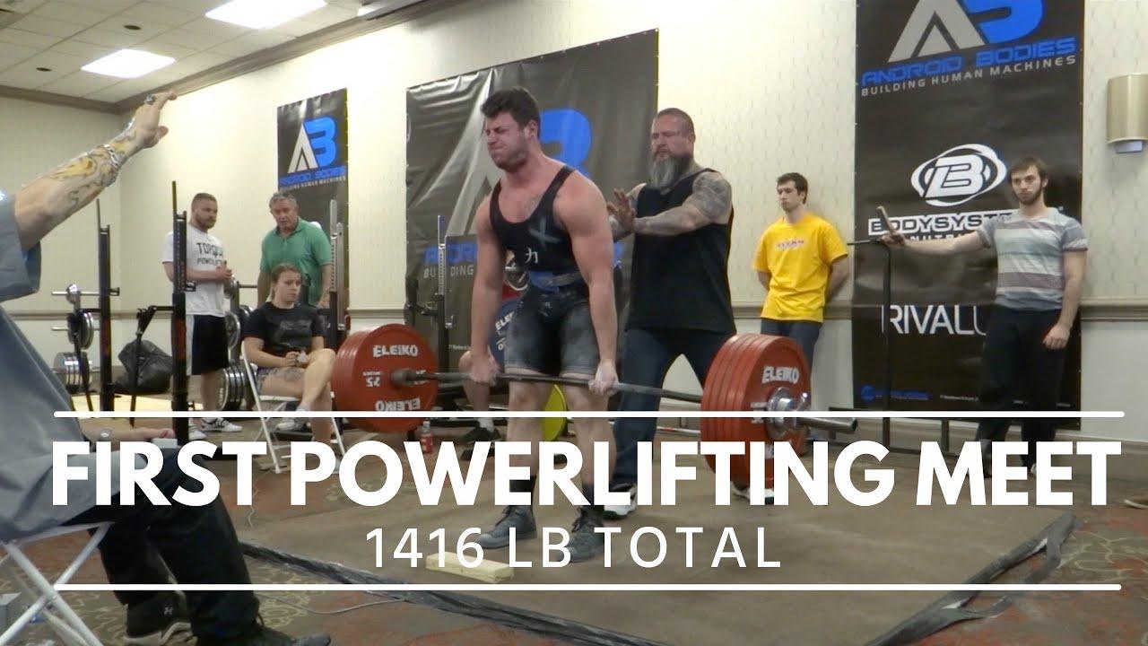 My First Powerlifting Meet | Nick Longo | 1416 LB Total | Full Vlog