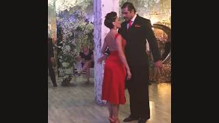 "1/2 Veronica Palacios & Omar Quiroga. Adornos Center. Moscow.12.10.2018.Milonga ""THE YEAR OF LOVE"""
