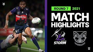 Storm v Warriors Match Highlights   Round 7, 2021   Telstra Premiership   NRL