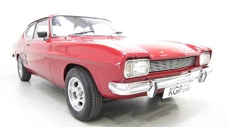 A Striking Pre-facelift Ford Capri 1600 With Custom Plan 'l' Pack And Three Owners From New. £4995