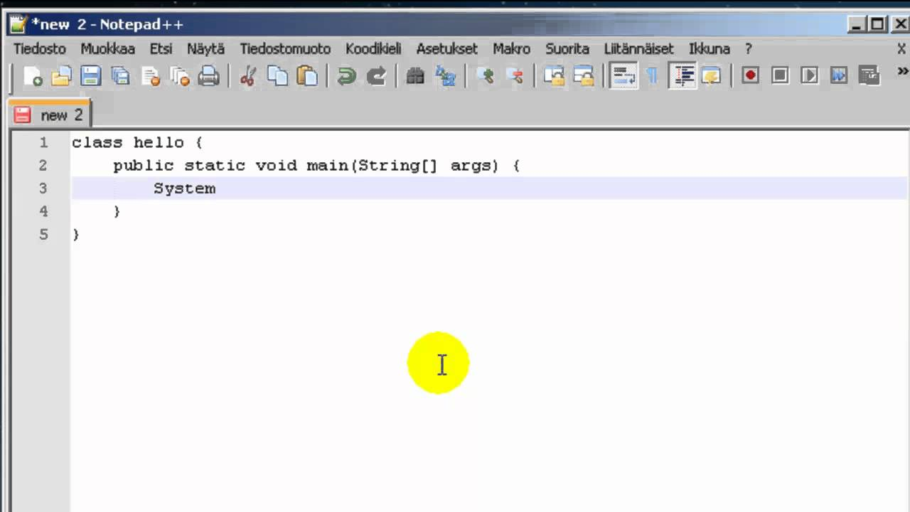 Simple Java Hello World program with Notepad++ and cmd - YouTube