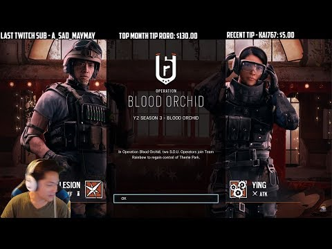 Rainbow Six Siege Blood Orchid First Start Up Screen Season Pass Skins Ela Lesion Ying