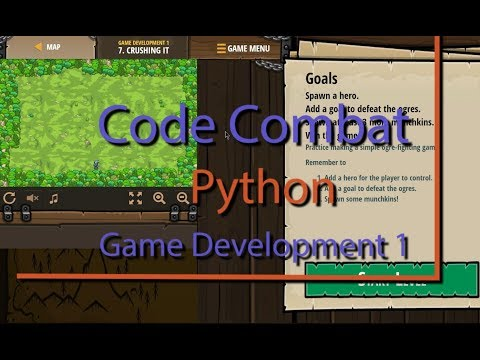 Code Combat Crushing It Level 7 Python Game Development Tutorial thumbnail