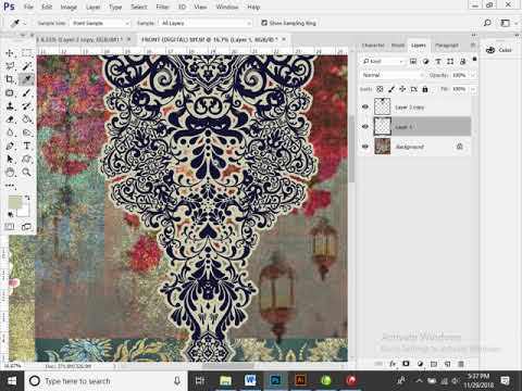 Learn to be digital textile designer. class 10 photoshop IVS MAP 29 nov 2018