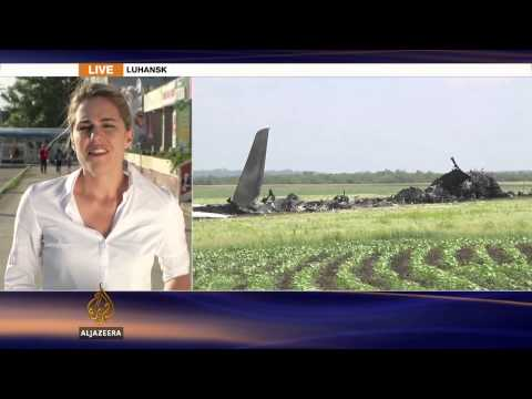 Ukraine hits back after rebels down plane