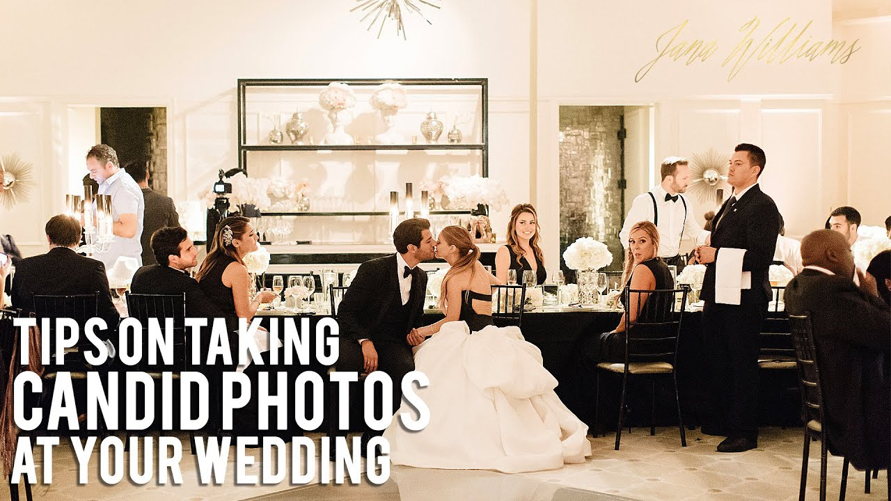Youtube Wedding Photography Tips: Tips For Taking Candid Photos At Your Wedding