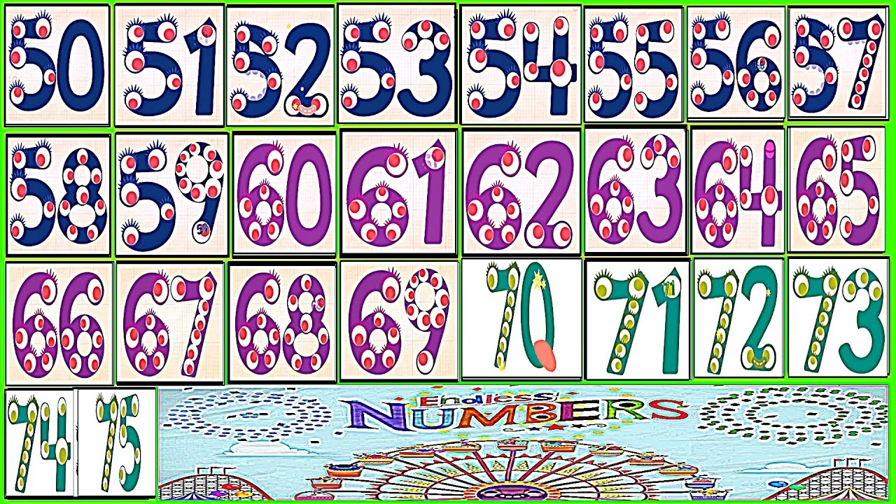 Learn Numbers Kids Count 505152535455565758596061 62636465666768697071727374