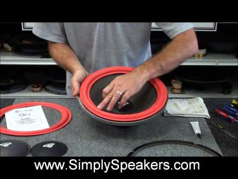 Speaker Repair and Replacement of Foam Surrounds on Cerwin Vega and Others