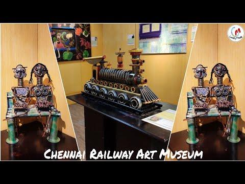 Indian train models gallery in railway museum - ICF