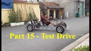 Homemade Lamborghini car part 15 - Test Drive