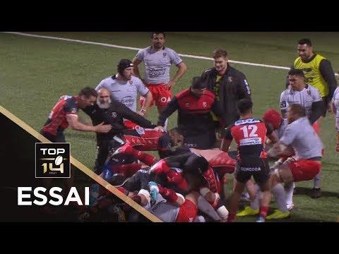 TOP 14 - Essai Steven SYKES (USO) - Oyonnax - Toulon - J21 - Saison 2017/2018