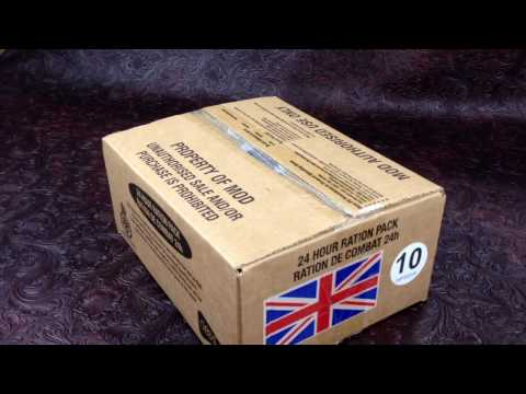 British 24h Ration Ministry Of Defense Menu 10 MRE Review