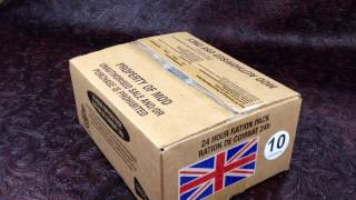MRE Review British Military 24h Ration Ministry Of Defense Menu 10