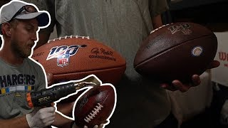 What Goes into Preparing an NFL Football for Gameday?
