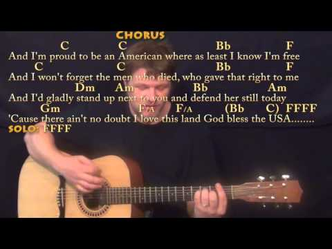 God Bless the USA (Lee Greenwood) Strum Guitar Cover Lesson with Chords/Lyrics