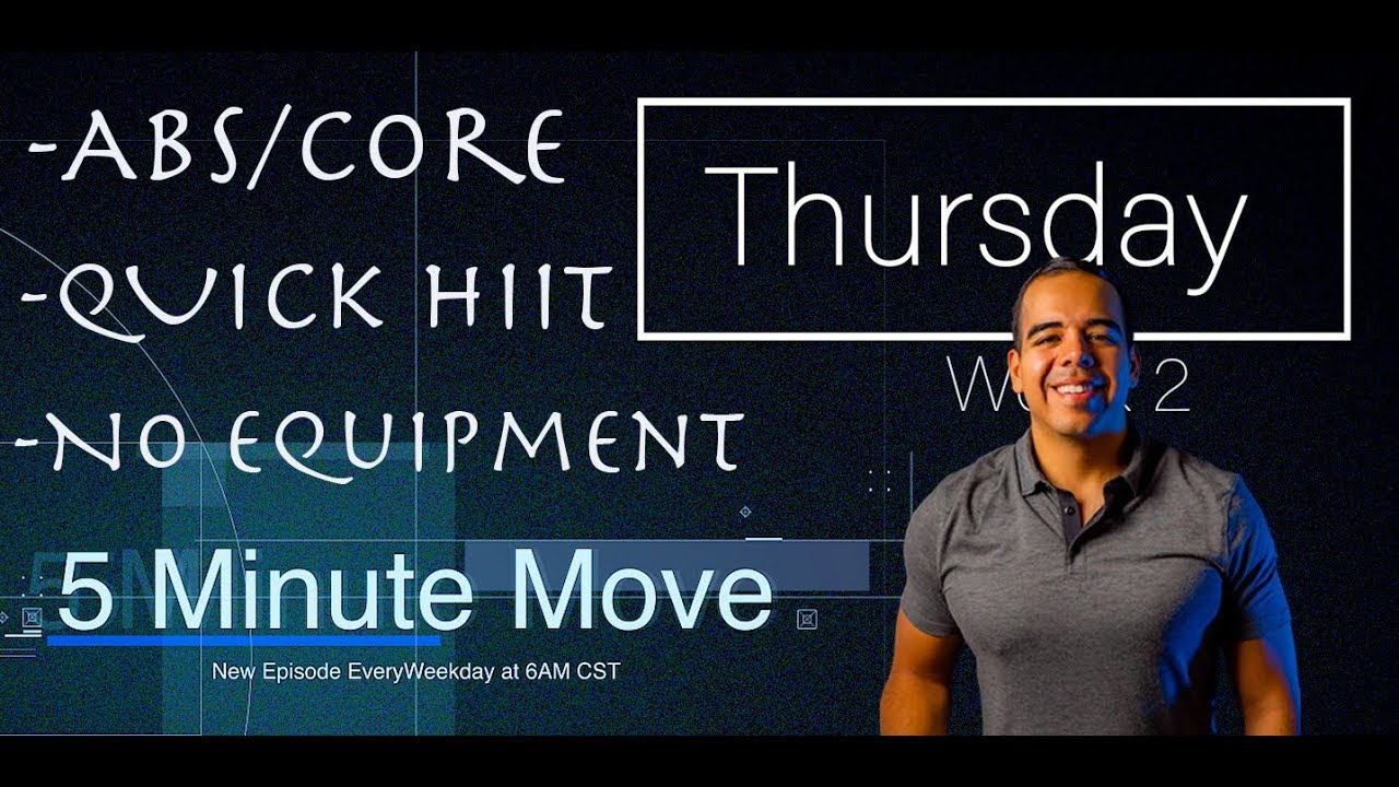 Abs/Core - Dumbbell - 5 Minute Move - Thursday