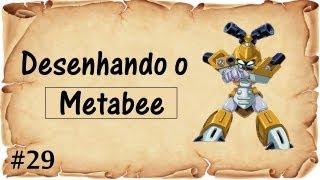 Desenhando o Metabee ( Medabots )  Semana Nostalgia