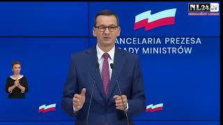 Koniec maseczek?! 150 osób na weselu - konferencja premiera Morawieckiego