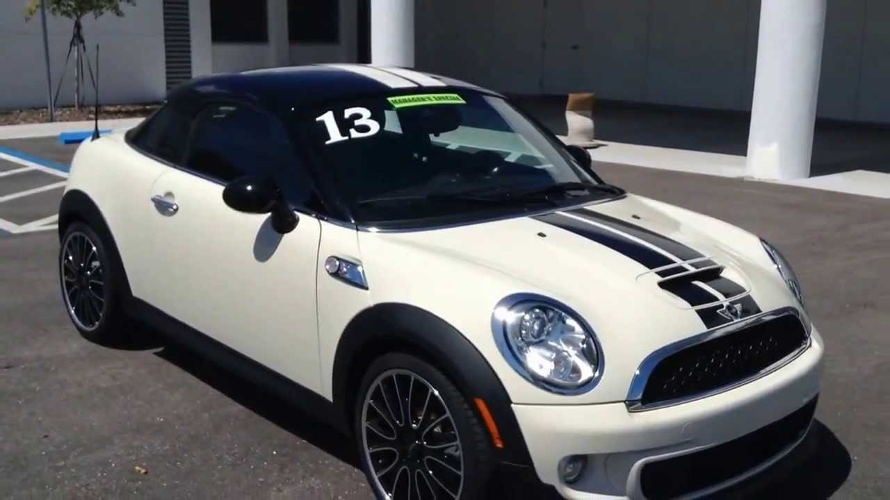 New Demo 2013 Mini Cooper S Coupe For Sale In Tampa Bay Call For