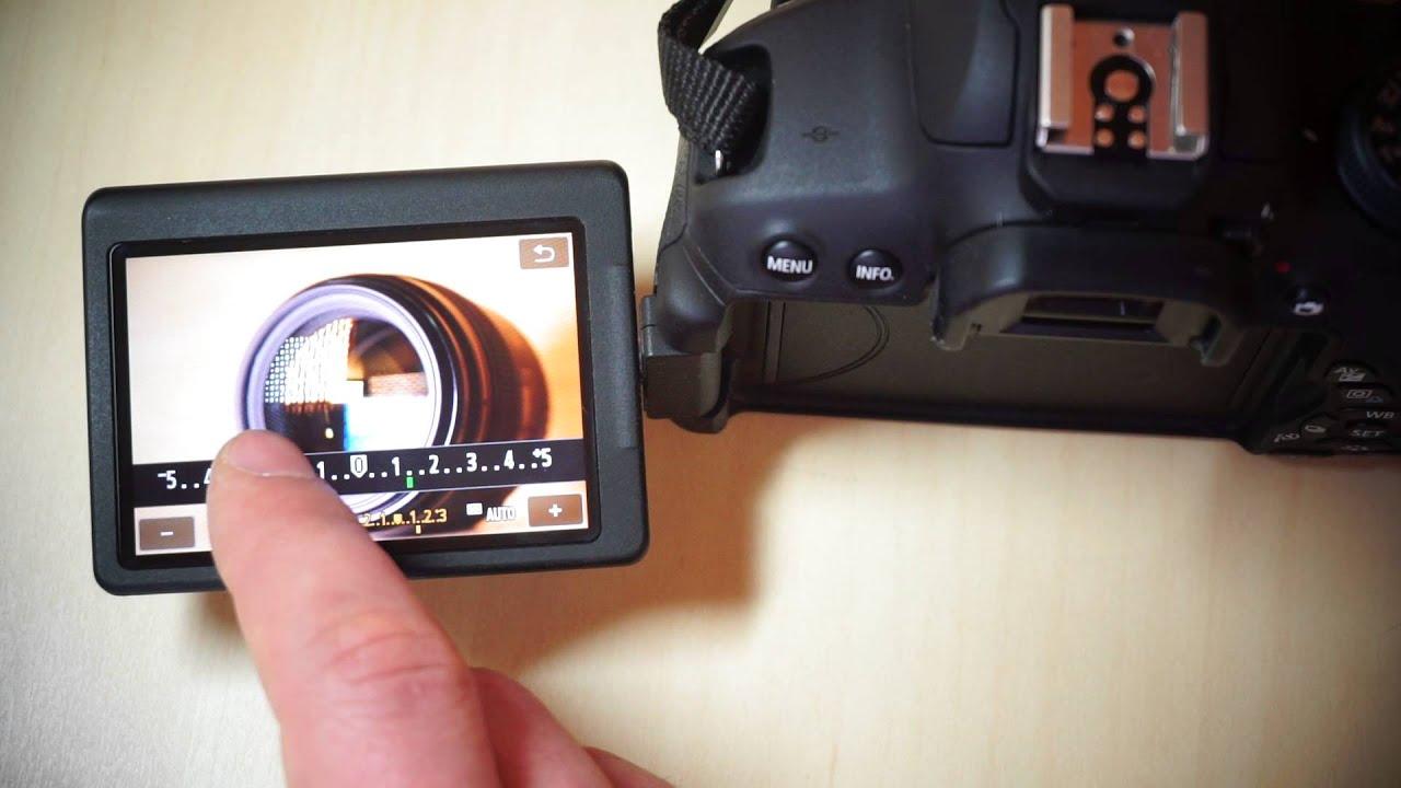 Canon EOS 700D: сенсорное управление