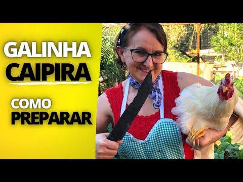 COMO MATAR E LIMPAR UMA GALINHA CAIPIRA - COMO PREPARAR UMA GALINHA CAIPIRA PARA O ALMOÇO!