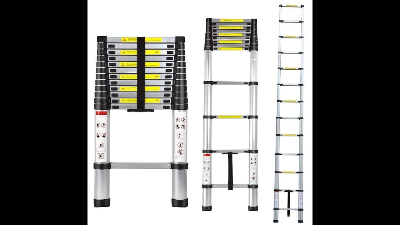 12.5\' Aluminum Telescopic/Telescoping Loft Ladder Review - YouTube