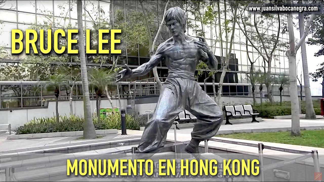 estatua de bruce lee en hong kong visita el coronel pnp juan silva bocanegra