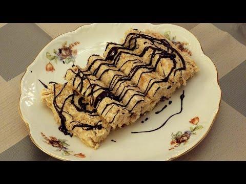 Бисквитный торт с бананом рецепт