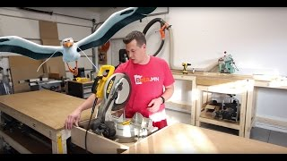 New Shop Build: Part 8 - 2 Miter Saw Stations in 1