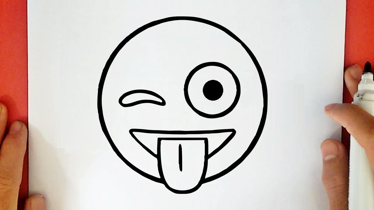 Comment Dessiner Emoji Clignotant Et Montrant La Langue Youtube