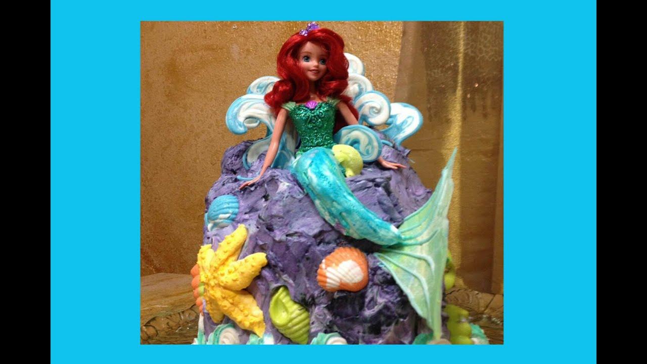 Ariel Cake Decorations Barbie Doll Cake Little Mermaid Short Version Cake Decorating