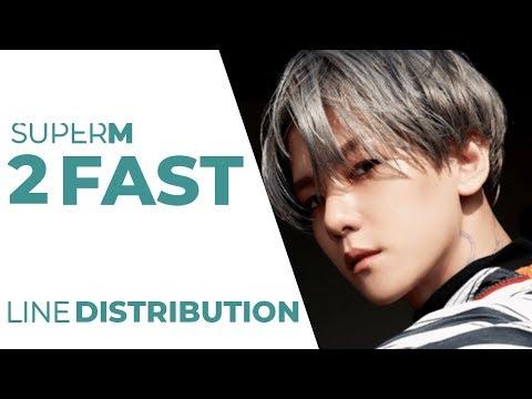 SUPER M - 2 FAST Line Distribution (Color Coded)