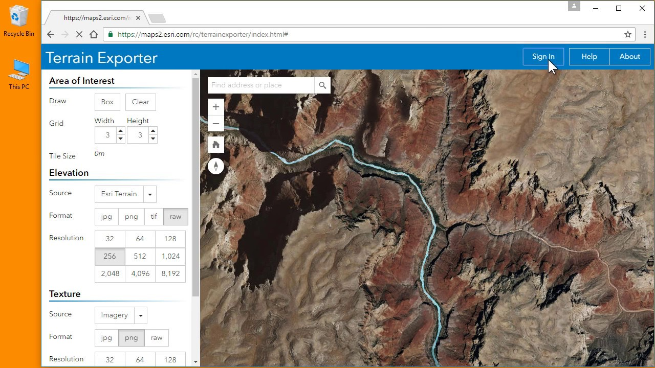 Terrain Exporter For AGOL YouTube - Find elevation by address