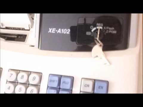 Sharp XE-A102 Cash Register: How to Reset?