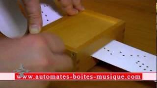 Boîte à musique à manivelle Lilium de l'anime Elfen lied avec cartes ou bandes perforées