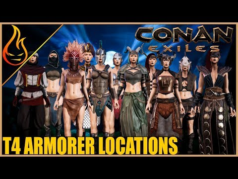 Every T4 Armor And Location Conan Exiles 2018 Pro Tips (Tested In Single Player PC)
