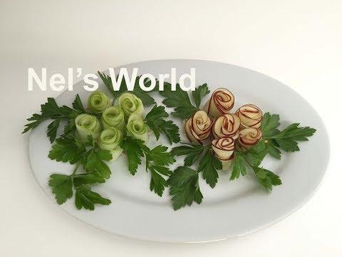 Apple Rose Garnish -  Խնձորից վարդերի  ձևավորում