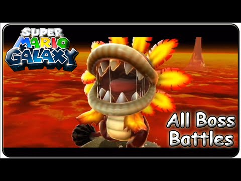 Super Mario Galaxy All Bosses (Full HD)